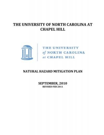 Natural Hazard Mitigation Plan Department Of Environment Health