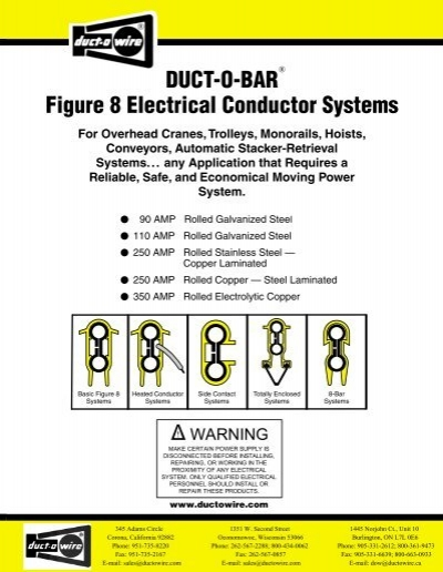 Duct o bar hd series conductor systems duct o wire duct o bar figure 8 electrical conductor systems duct o wire aloadofball Gallery