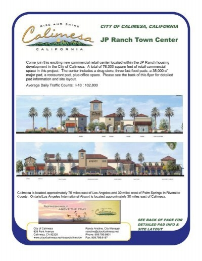 JP Ranch Town Center - City of Calimesa