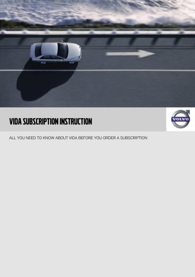 vida subscription instruction - Volvo Cars Customer Service ...
