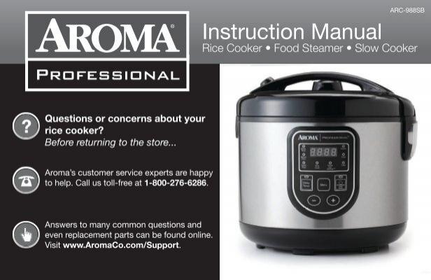 arc 988sb instructionmanual rh yumpu com Aroma Digital Rice Cooker Directions Aroma Rice Cooker 2 Cup