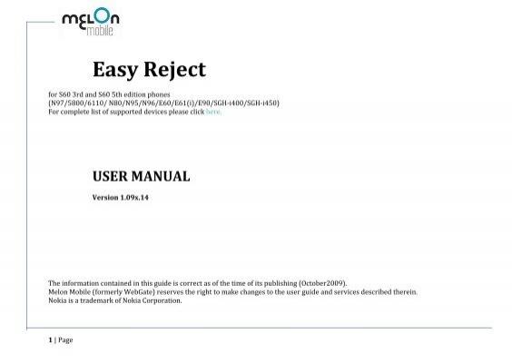 easy reject user manual nokia software market rh yumpu com
