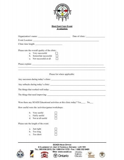 Name Of Event Evaluation Form