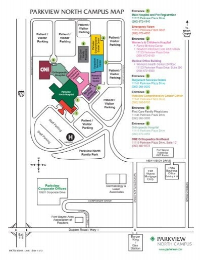 Parkview North Campus Map