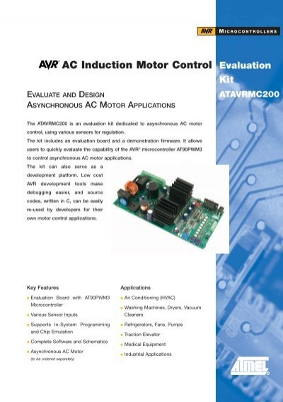 Avr Ac Induction Motor Control Evaluation Kit Atavrmc200