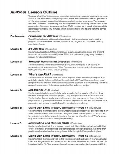 All4you lesson outline etr associates lesson outline etr associates altavistaventures Image collections