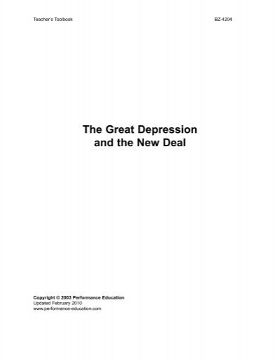 The Great Depression Series Review