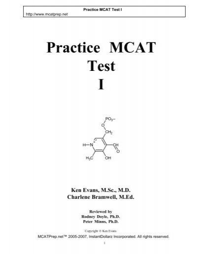 Practice Mcat Test I Mcat Prep Net