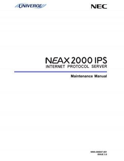 univerge neax2000 ips maintenance manual pdf rh yumpu com NEC 2014 Programmable Thermostat Manual