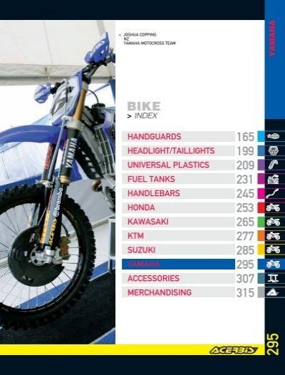 for 93-01 Yamaha YZ80 White Acerbis Side Panel Set