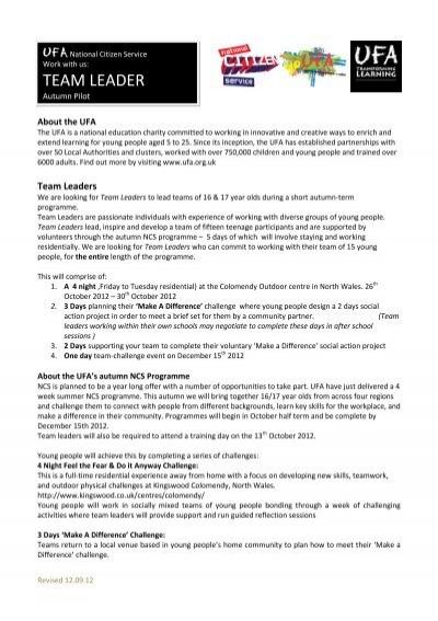 JOB DESCRIPTION Tenant Services Liaison Team Leader haart – Team Leader Job Description