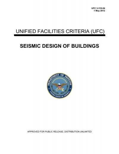 UFC 3-310-04 Seismic Design of Buildings - The Whole Building ...