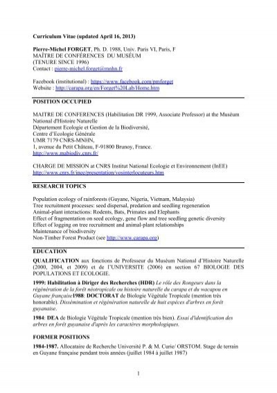 1 curriculum vitae updated april 16 2013 pierre carapaorg