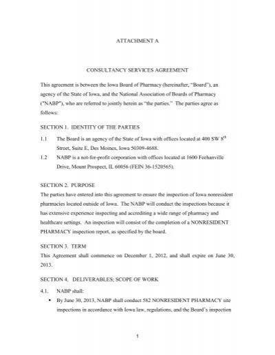 Iowa Consultancy Services Agreement Ichp