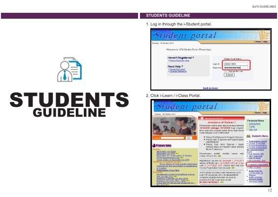 Sufo Guideline I Learn Portal A Uitm E Learning Portal