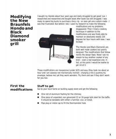 Hondo offset smoker char-broil.