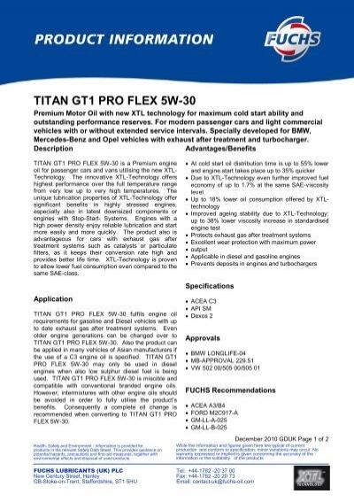 titan gt1 pro flex 5w 30. Black Bedroom Furniture Sets. Home Design Ideas