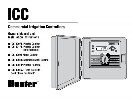 hunter icc controller owners manual irrigation direct rh yumpu com hunter icc controller owner's manual Hunter ICC Power Module