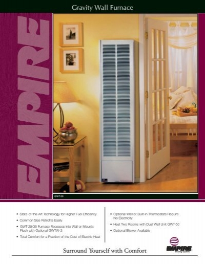 Gravity Wall Furnace Empire Gas Space Heater