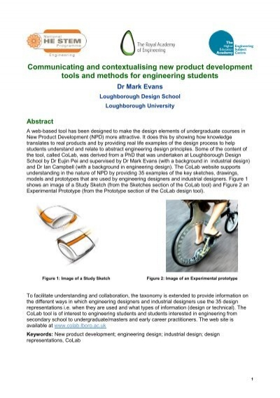 Communicating And Contextualising New Product Development Tools