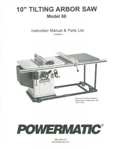 Powermatic Model 66 Tablesaw Arbor Blade Nut RH thread 3530006