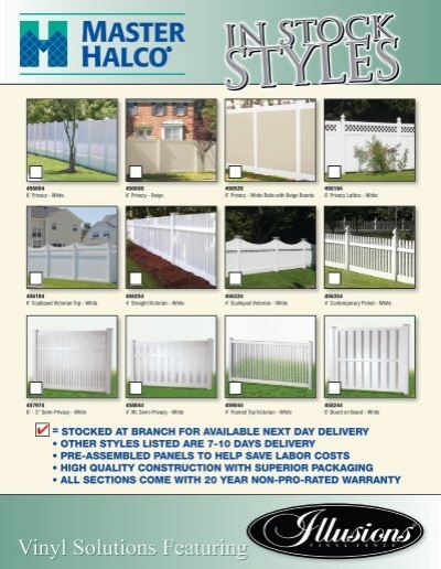 Master Halco In Stock Midwest Illusions Vinyl Fence