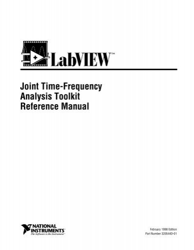 labview joint time frequency analysis toolkit reference manual rh yumpu com labview communications vi reference manual labview g programming reference manual