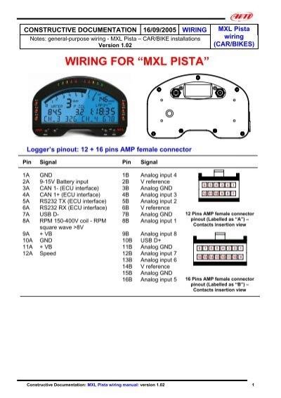 Mxl Pista Wiring