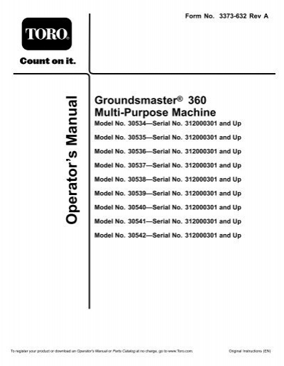 Toro operators manual various owner manual guide toro groundsmaster 360 operators manual rh yumpu com toro 4500 operators manual toro operator manual m20107 s2003212 fandeluxe Choice Image