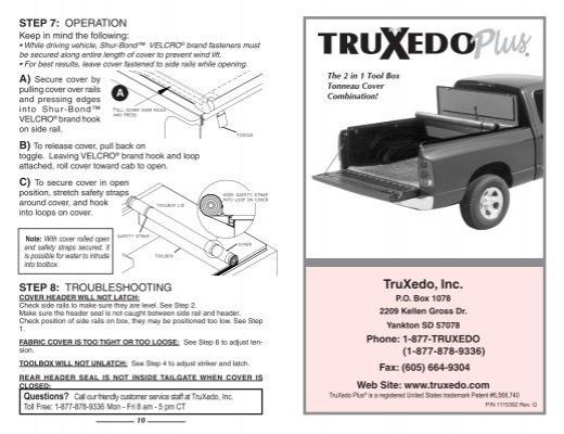 TruXedoPlus Toolbox Tonneau Cover Installation