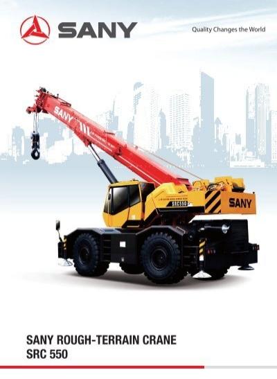 Rough Terrain Crane Application : Sany rough terrain crane src