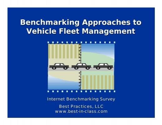 Vehicle Fleet Management : Benchmarking approaches to vehicle fleet management