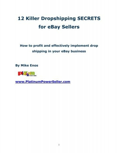 12 Killer Dropshipping Advantages For Ebay Sellers