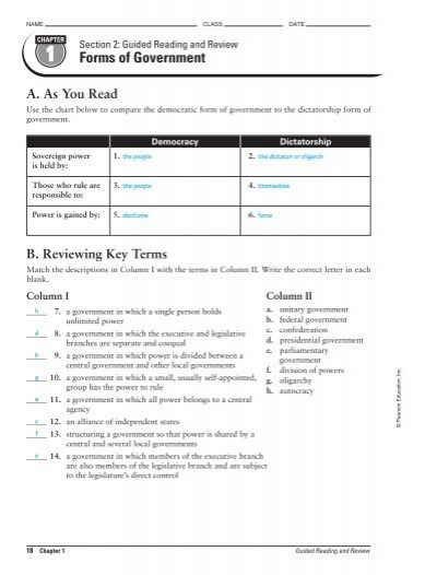 name class date section 1 rh yumpu com magruder's american government guided reading and review workbook answer key american government guided reading and review answers chapter 14