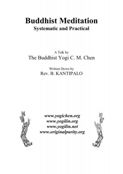 Buddhist Meditation Systematic And Practical