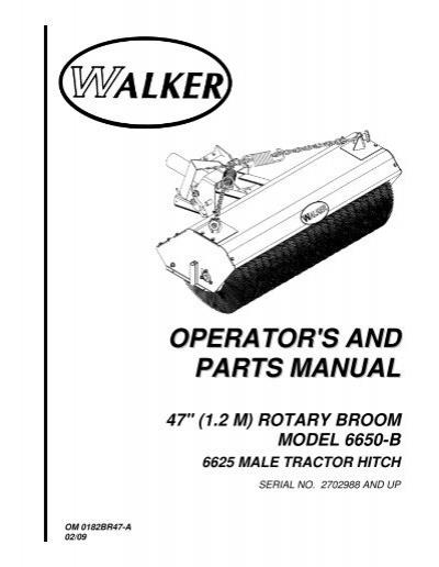 Operators And Parts Manual Walker Mowers