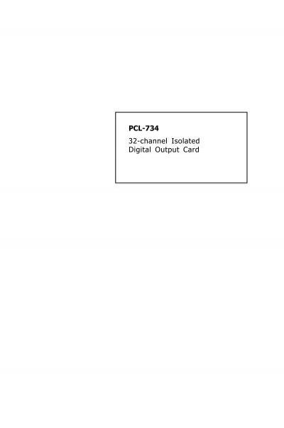 Advantech PCL-734-A PC-LabCard 32-Channel Isolated Digital Output Card