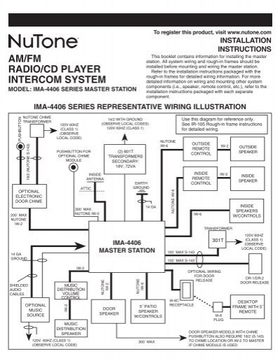 wiring schematic for nutone intercom im 3303 nutone