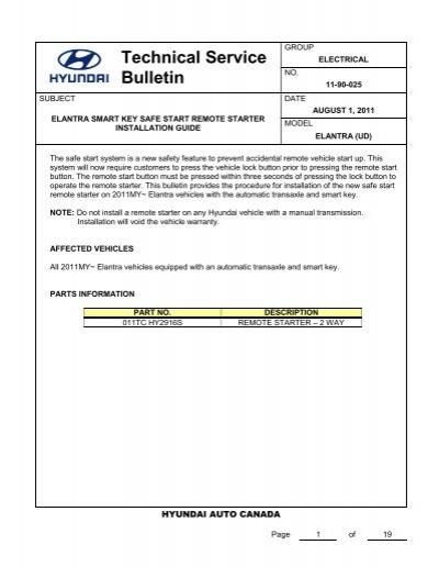 Technical Service Bulletin - Hyundai Canada