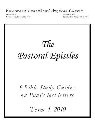 The pastoral epistles: bible study. Book by e. M. Blaiklock.