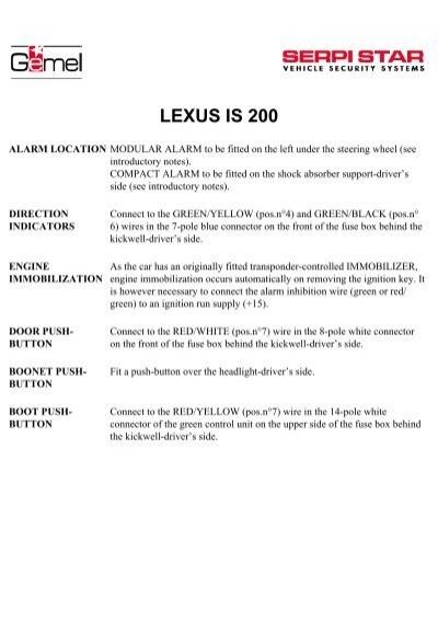 Lexus Is200 Pdf