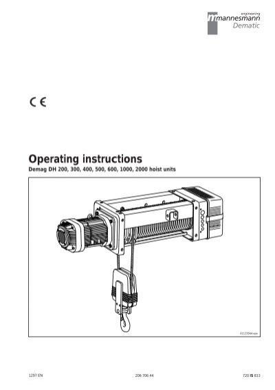[DIAGRAM_38IU]  O M DH200.pdf | Demag Pendant Switch Wiring Diagram |  | Yumpu