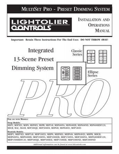 LIGHTOLIER ER-3-W Easy Set Remote WHITE