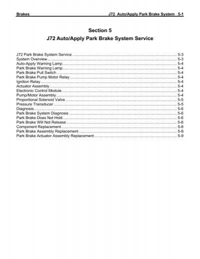 j72 park brake system service - Oemys-performance com