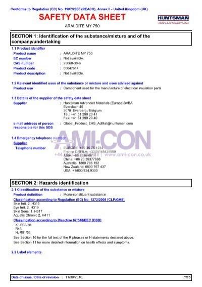 7742 ARALDITE MY 750 (English (GB)) Huntsman SDS     - AMI-CON