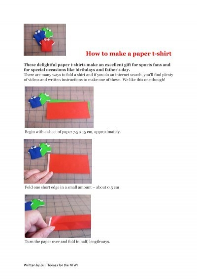 How to Make an Origami Shirt Step by Step Instructions   Free ...   567x400
