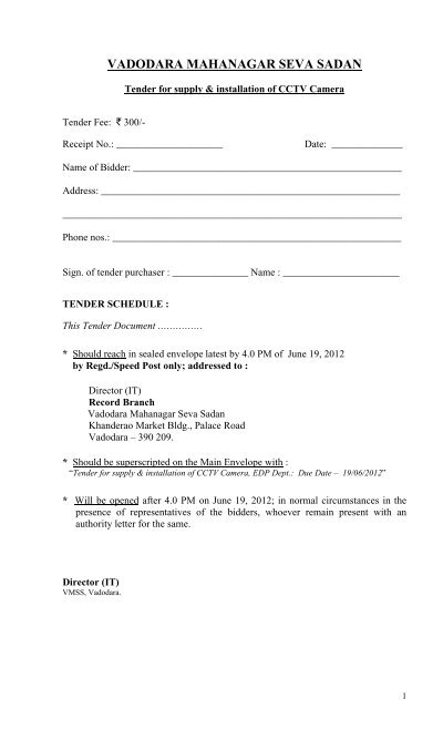 Vadodara municipal corporation tenders dating