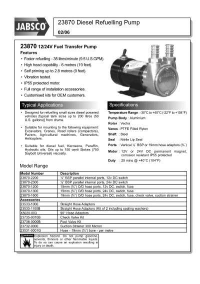 Jabsco 23870-1200 Transfer Pump