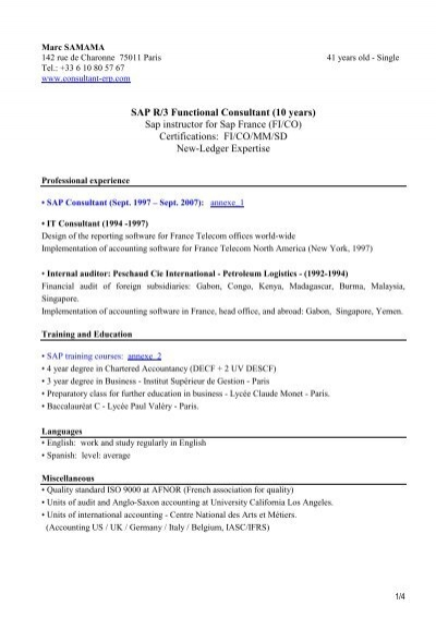 Resume sap france general assignment reporter