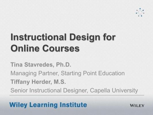 Instructional Design For Online Courses